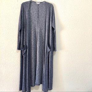 Lularoe long sleeve Sarah long cardigan size XL